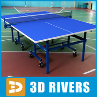 Ping pong table 02 by 3DRivers
