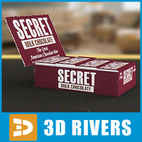 3d model box hershey chocolates