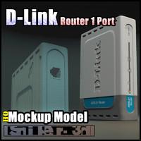 3d model d-link router