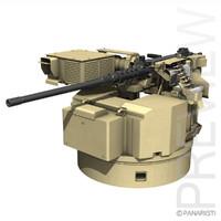 remote weapon station rws 3d c4d