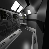Sci Fi Hallway Corridor Conduit