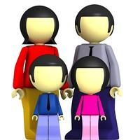 3dsmax men family man