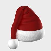 Santa claus cap 3d model