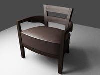 arm chair dark 3d model