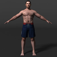 male man guy 3d obj