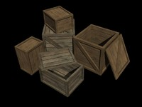 crates realtime games 3d model
