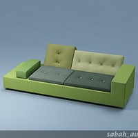3d multi-color polder sofa model
