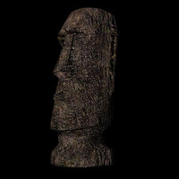 moai statue obj