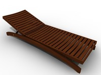 sunbed bed sun 3d model