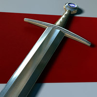 Low Poly Medieval Sword