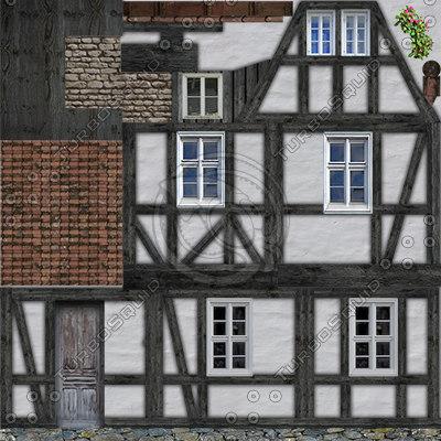 Old fachwerk house 4 3d max for 3d fachwerk