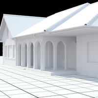 single-family house 3d model