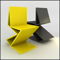 Gerrit Rietveld 1938 Zig Zag Chair Remix