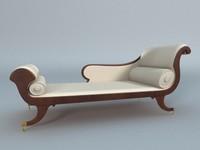 chaiselongue classic sofa