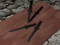 3ds max ka-bar tanto knife blade