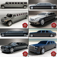 limousines limo 3d model