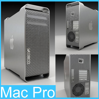 Mac Pro Workstation Computer 3d Model