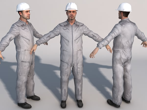 games mechanic 01 3d model - Mechanic 01... by Pinelas