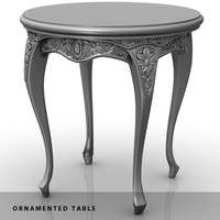 maya legged ornamented table