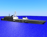 battle ship 3d obj