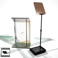 presidential teleprompter prompter 3d model