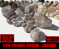 Rocks - Stones Jagged ALL - The Entire Collection of Jagged 3D rocks or stones
