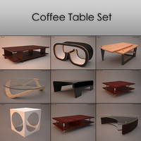 set coffee tables 3d model