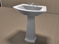 TOTO Soiree Sink and Kohler Alterna Faucet Set