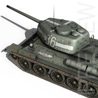 T-34 85 - Soviet tank