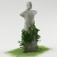 3d statue ivy