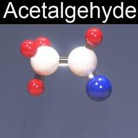 3d acetalgehyde model