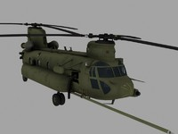 CH-47E SOA Chinook Game Ready Model