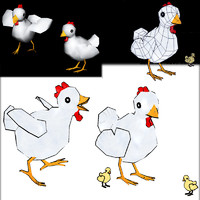 chicken chic 3d fbx