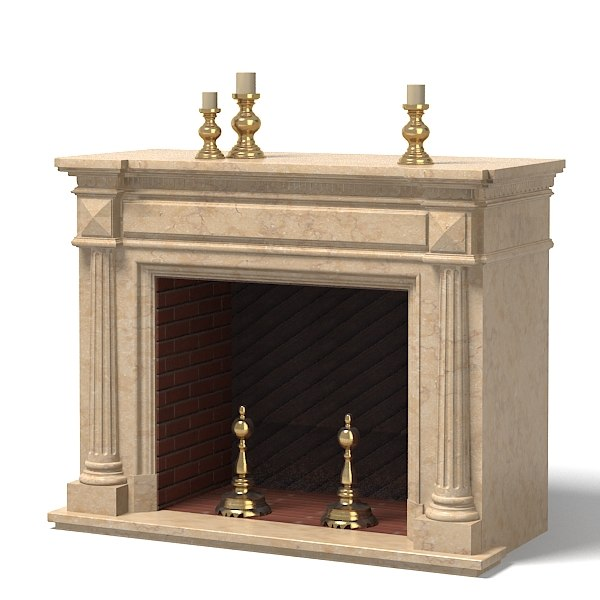 Fireplace Classic Charlotte 3d 3ds