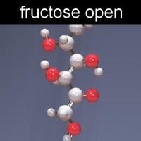 molecule fructose 3d max