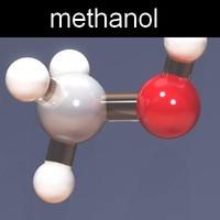 molecule methanol 3d max