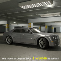 underground parking car vehicle 3d model