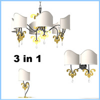 prearo 211 6 br  table lamp chandelier wall sconce