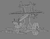 balista artillery ballista 3d model