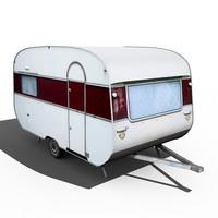 3d old caravan model