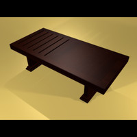 3d table akpe coffee model