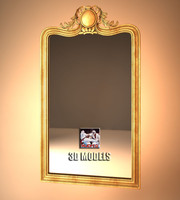 3d gold mirror