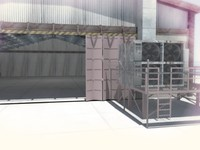 warehouse environment car 3d model