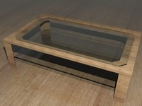 wood table glass 3d max
