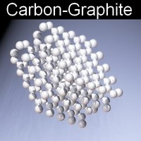 3d molecule graphite carbon model