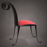 stylized chair 3d model