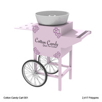 cotton cart candy obj