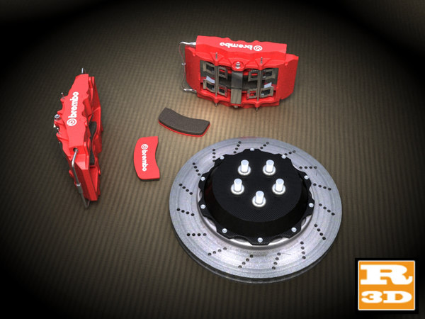 brembo brake 3d model - Brembo Brake System Detaliated... by Ruv3D