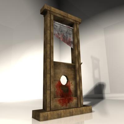 3d model guillotine. Black Bedroom Furniture Sets. Home Design Ideas