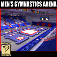 3d men gymnastics arena model